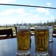 ゴルフ後のビール